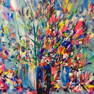 (CreativeWork) Early Morning by Terina Jones. arcylic-painting. Shop online at Bluethumb.