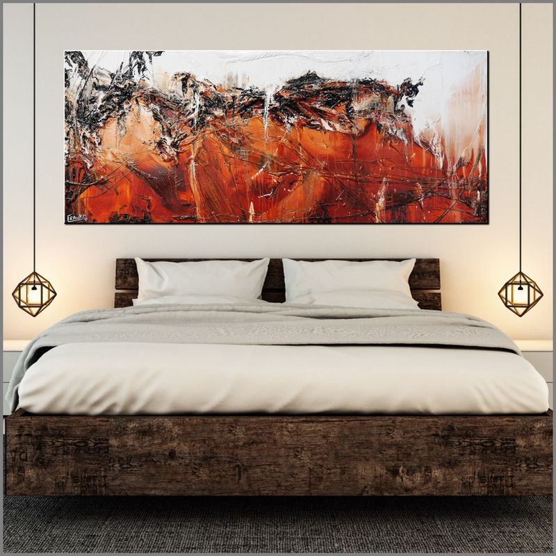 (CreativeWork) Scorched 200cm x 80cm  Oxide Clay ochre Textured Acrylic Abstract Gloss Finish FRANKO by _Franko _. Acrylic Paint. Shop online at Bluethumb.