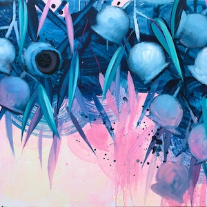 (CreativeWork) DAY WAKES UP by Lily Nova. arcylic-painting. Shop online at Bluethumb.