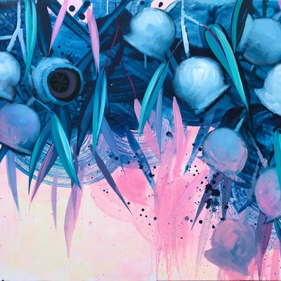 (CreativeWork) DAY WAKES UP by Lily Nova. acrylic-painting. Shop online at Bluethumb.