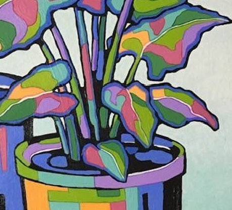 (CreativeWork) CALADIUM by Saadah Kent. Acrylic Paint. Shop online at Bluethumb.