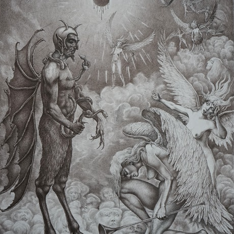(CreativeWork) Fallen Angel by Imre Zsido. Drawings. Shop online at Bluethumb.