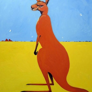 (CreativeWork) Big Red Kangaroo  by John Graham. #<Filter:0x0000563b6c4729a0>. Shop online at Bluethumb.