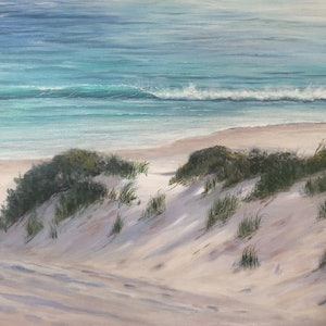 (CreativeWork) Lavender dunes  by Ann Steer. arcylic-painting. Shop online at Bluethumb.