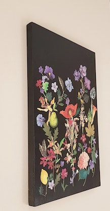 (CreativeWork) 'Where flowers bloom ' -#2 collage ready to hang by Karen Coull. Mixed Media. Shop online at Bluethumb.