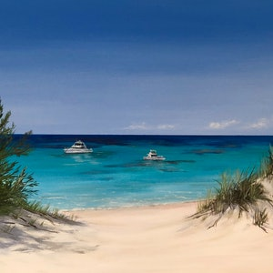 (CreativeWork) Summer Days, Rottnest  by Ann Steer. arcylic-painting. Shop online at Bluethumb.