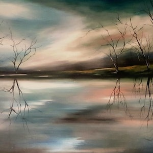 (CreativeWork) Quest  by Alice Howell. oil-painting. Shop online at Bluethumb.