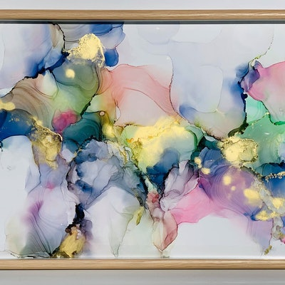 (CreativeWork) A LOVE LIKE YOURS - ALCOHOL INK by DEBORAH HUGHES. Other Media. Shop online at Bluethumb.