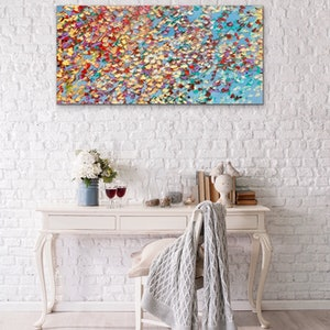 (CreativeWork) Flight of Petals  by Theo Papathomas. oil-painting. Shop online at Bluethumb.
