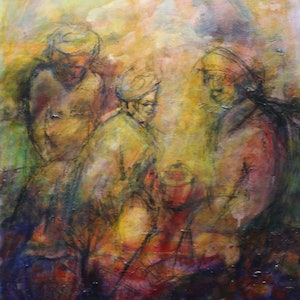 (CreativeWork) CONTEMPLATION by Maureen Finck. oil-painting. Shop online at Bluethumb.