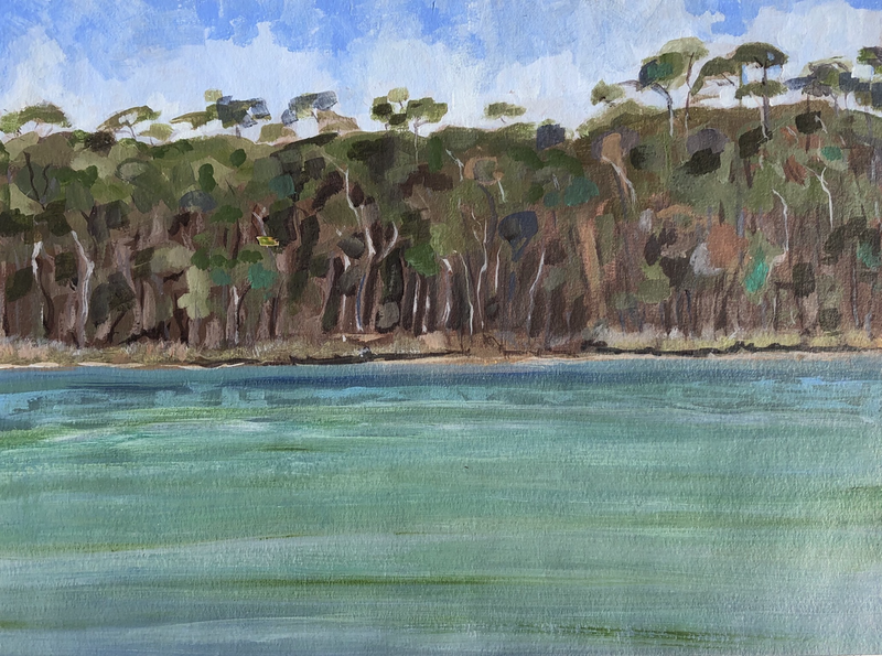 (CreativeWork) View Across  by Kate Gradwell. arcylic-painting. Shop online at Bluethumb.