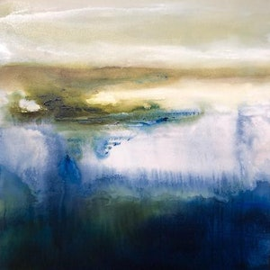 (CreativeWork) Solitude Wakes by Joanne Duffy. oil-painting. Shop online at Bluethumb.