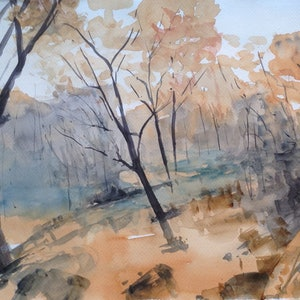 (CreativeWork) After the Fire by Bernd Rieve. watercolour. Shop online at Bluethumb.