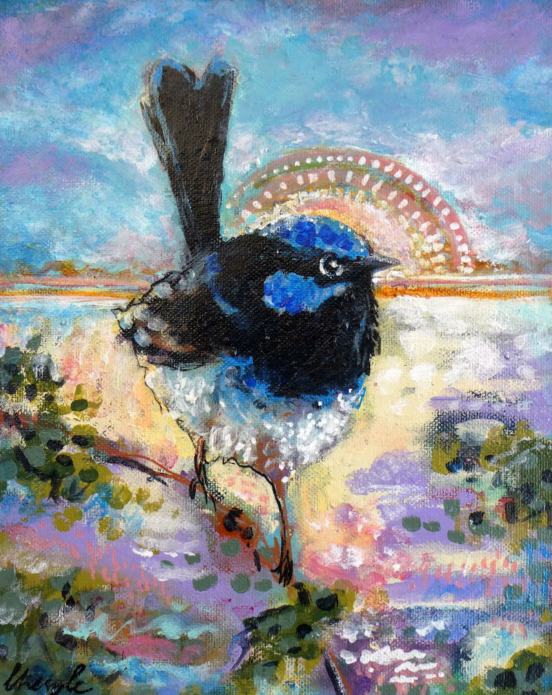 (CreativeWork) Small blessings by Cheryle Bannon. acrylic-painting. Shop online at Bluethumb.