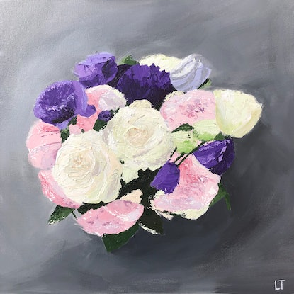 (CreativeWork) Purple Pops - STUDIO CLEARANCE SALE - Was $350 Now $290 by Lisa Turner. Acrylic Paint. Shop online at Bluethumb.