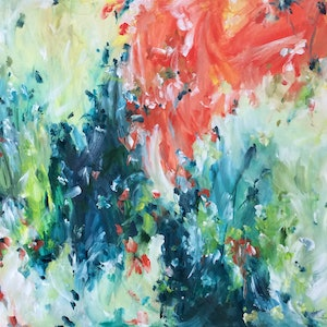 (CreativeWork) Outback by Amber Gittins. arcylic-painting. Shop online at Bluethumb.