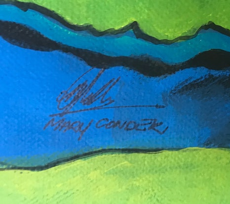 (CreativeWork) Undercurrents by Mary Conder. Acrylic Paint. Shop online at Bluethumb.
