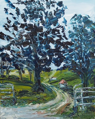 (CreativeWork) 'Coming Home' Beechmont Queensland Landscape  by Michelle Keighley. Oil Paint. Shop online at Bluethumb.