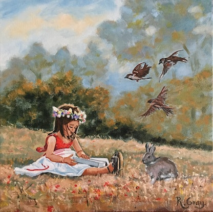(CreativeWork) Once Upon a Time by Robyn Gray. Acrylic Paint. Shop online at Bluethumb.