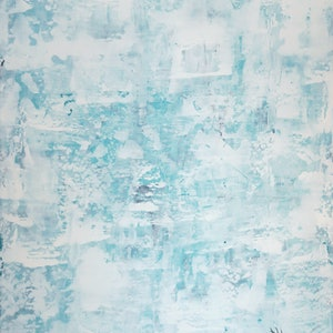 (CreativeWork) Ice Wall by Barry Johnson. arcylic-painting. Shop online at Bluethumb.