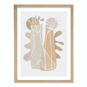 (CreativeWork) 'Joli Beige' by Angus Martin. arcylic-painting. Shop online at Bluethumb.