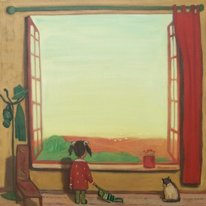 (CreativeWork) Fake Window by Tetyana Khytko. oil-painting. Shop online at Bluethumb.