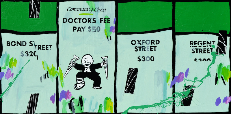 (CreativeWork) COMMISSION, RESERVED - Doctor's Fee by Ben Tankard. arcylic-painting. Shop online at Bluethumb.