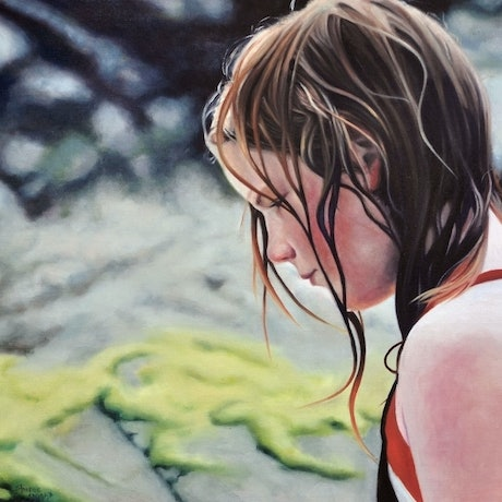 (CreativeWork) Reflections1 by Sheree Wright. Oil. Shop online at Bluethumb.