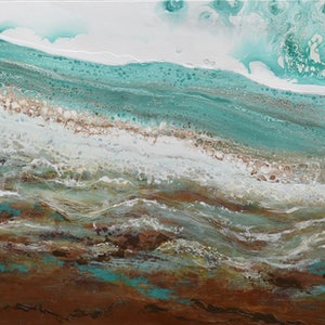 (CreativeWork) Pindan Coast by Brigitte Ackland. arcylic-painting. Shop online at Bluethumb.