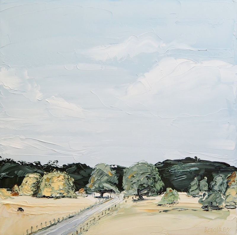 (CreativeWork) 'Heart Land' Australian Landscape by Michelle Keighley. Oil Paint. Shop online at Bluethumb.