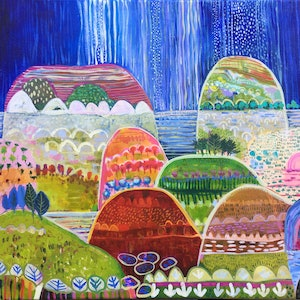(CreativeWork) After The Rain by Greta Laundy. arcylic-painting. Shop online at Bluethumb.