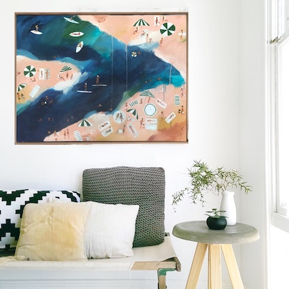 (CreativeWork) Bundeena At The Weekend by Marnie McKnight. Acrylic Paint. Shop online at Bluethumb.