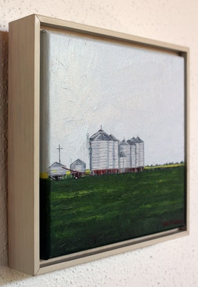 (CreativeWork) Silo's by Tim O'Shea. Oil Paint. Shop online at Bluethumb.
