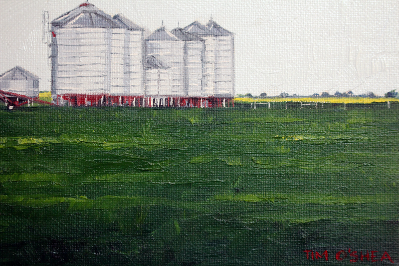 (CreativeWork) Silo's by Tim O'Shea. oil-painting. Shop online at Bluethumb.