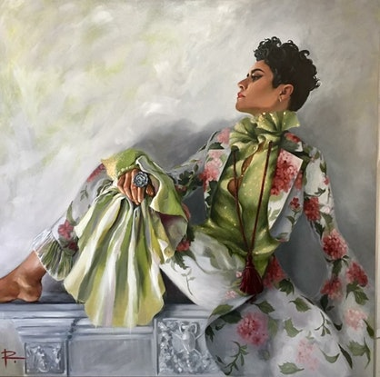 (CreativeWork) INSANE IN THE MONTAIGNE feat. Montaigne by Rosa Fedele. Oil. Shop online at Bluethumb.