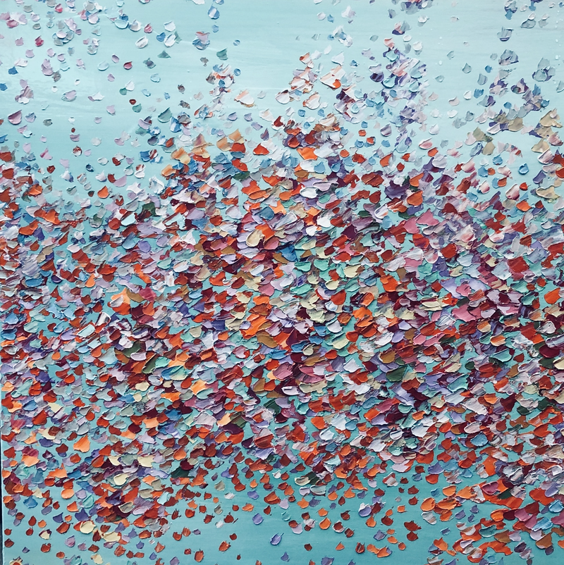 (CreativeWork) Feast of Petals    by Theo Papathomas. oil-painting. Shop online at Bluethumb.