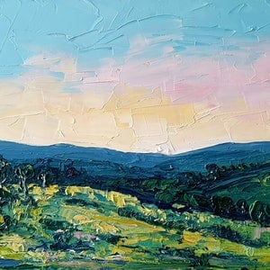 (CreativeWork) View From The Veranda - FRAMED - Landscape by Angela Hawkey. oil-painting. Shop online at Bluethumb.