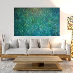 (CreativeWork) Verdant Garden by Andrea Edwards. arcylic-painting. Shop online at Bluethumb.