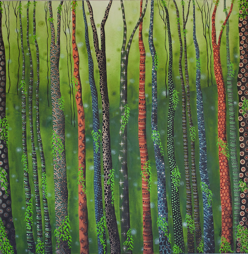 (CreativeWork) Renew by Ornella Imber. acrylic-painting. Shop online at Bluethumb.