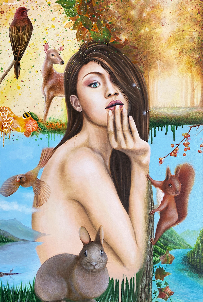 (CreativeWork) Nature is Calling Me Back by Andrea Marriette. Acrylic Paint. Shop online at Bluethumb.