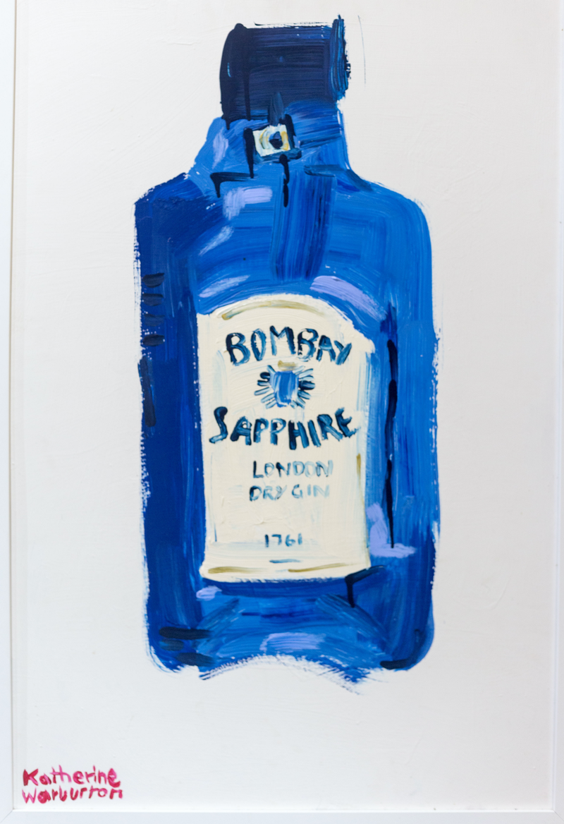 (CreativeWork) Bombay Sapphire by Katherine Warburton. arcylic-painting. Shop online at Bluethumb.