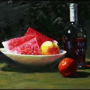 (CreativeWork) Still life 139 by Yuan Fu. oil-painting. Shop online at Bluethumb.