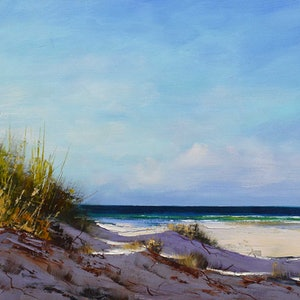 (CreativeWork) Dunescape by Graham Gercken. oil-painting. Shop online at Bluethumb.