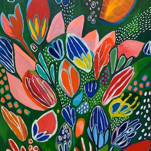 (CreativeWork) Explosion of Beauty  by Hayley Mischief Lord. arcylic-painting. Shop online at Bluethumb.