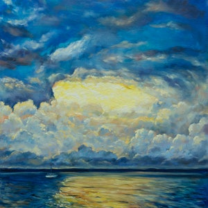 (CreativeWork) Before the storm  by Irina Redine. oil-painting. Shop online at Bluethumb.