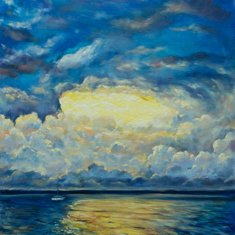 (CreativeWork) Before the storm  by Irina Redine. Oil Paint. Shop online at Bluethumb.