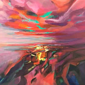 (CreativeWork) Light Falls by Tracey Berthold. arcylic-painting. Shop online at Bluethumb.