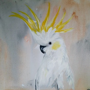(CreativeWork) Cockatoo  #2 by Amanda Skye. acrylic-painting. Shop online at Bluethumb.