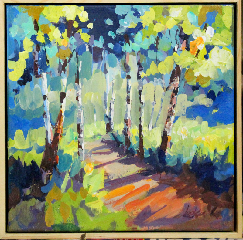 (CreativeWork) Spring Avenue by Leeka Gruzdeff. Acrylic Paint. Shop online at Bluethumb.