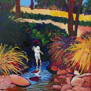 (CreativeWork) Girl in Yallingup Creek by Bevan Griggs. #<Filter:0x00007f1f7686a370>. Shop online at Bluethumb.